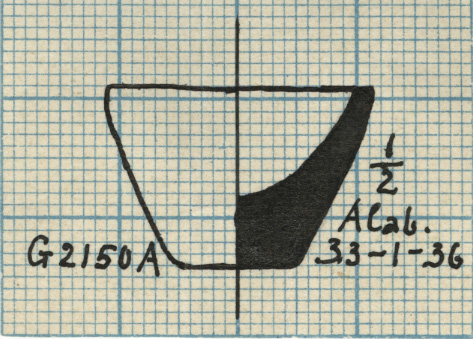 Drawings: G 2150, Shaft A: model cup, alabaster