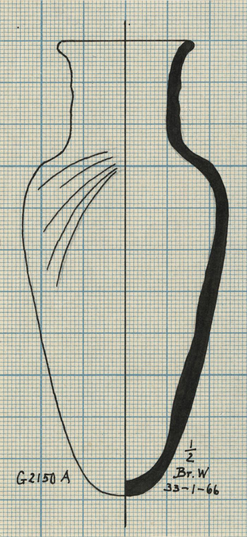 Drawings: G 2150, Shaft A: pottery, jar