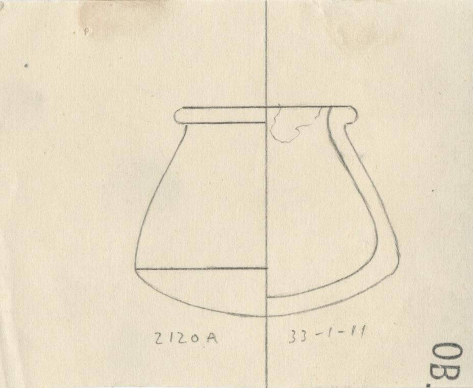 Drawings: G 2120, Shaft A: pottery, model jar