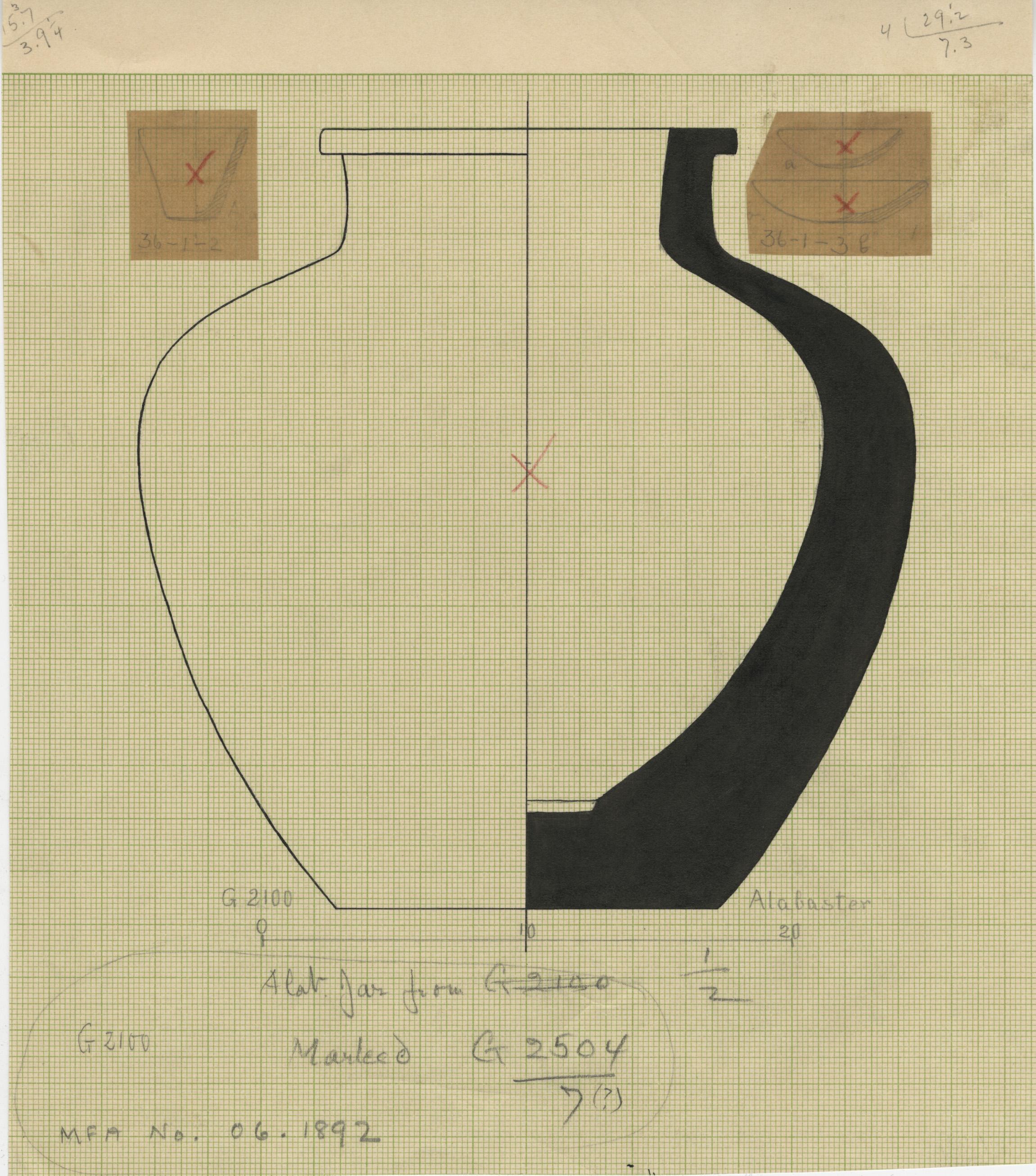 Drawings: G 2100: vessels, alabaster