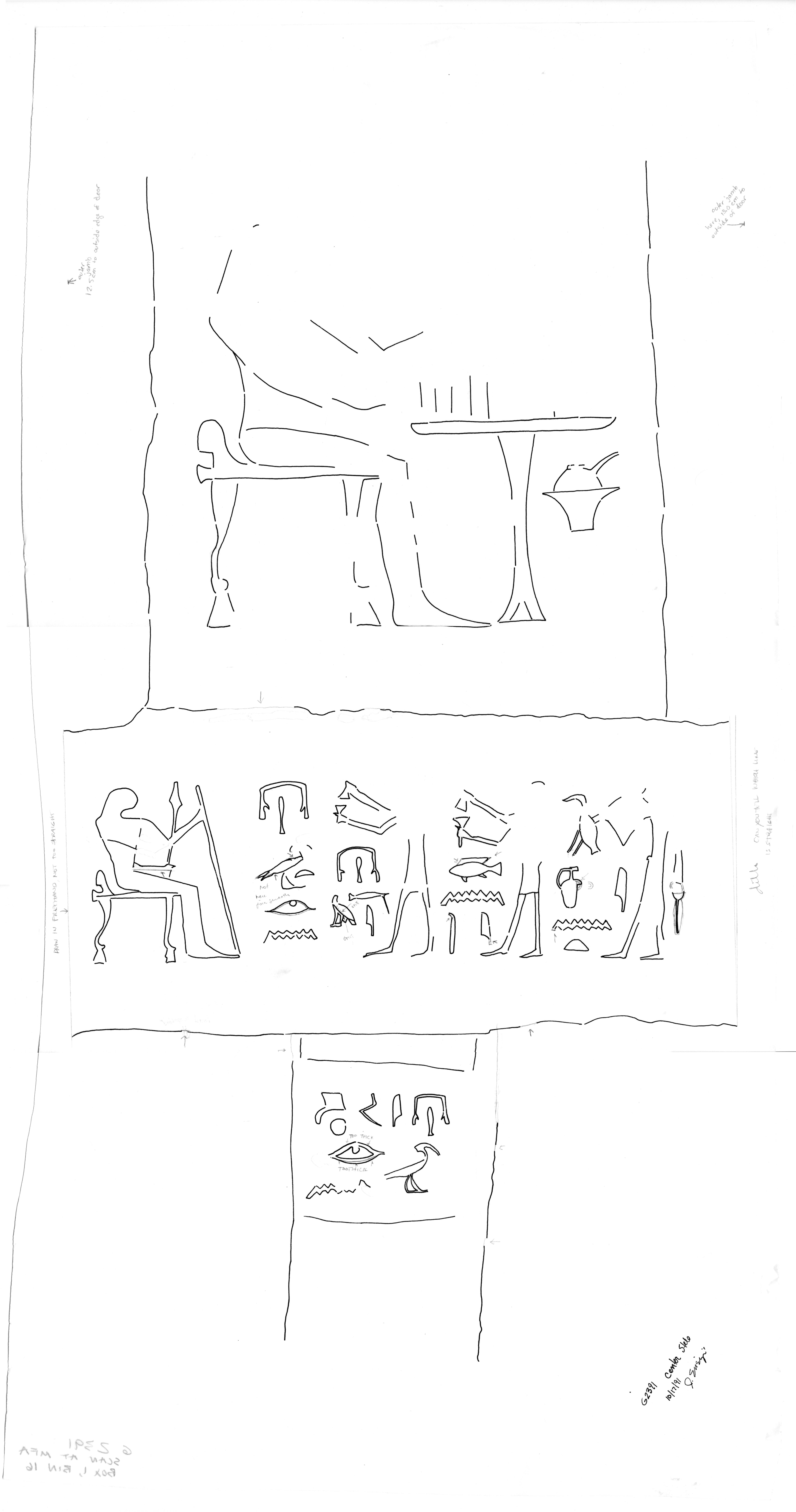 Drawings: G 2391: relief from false door of Irenakhet
