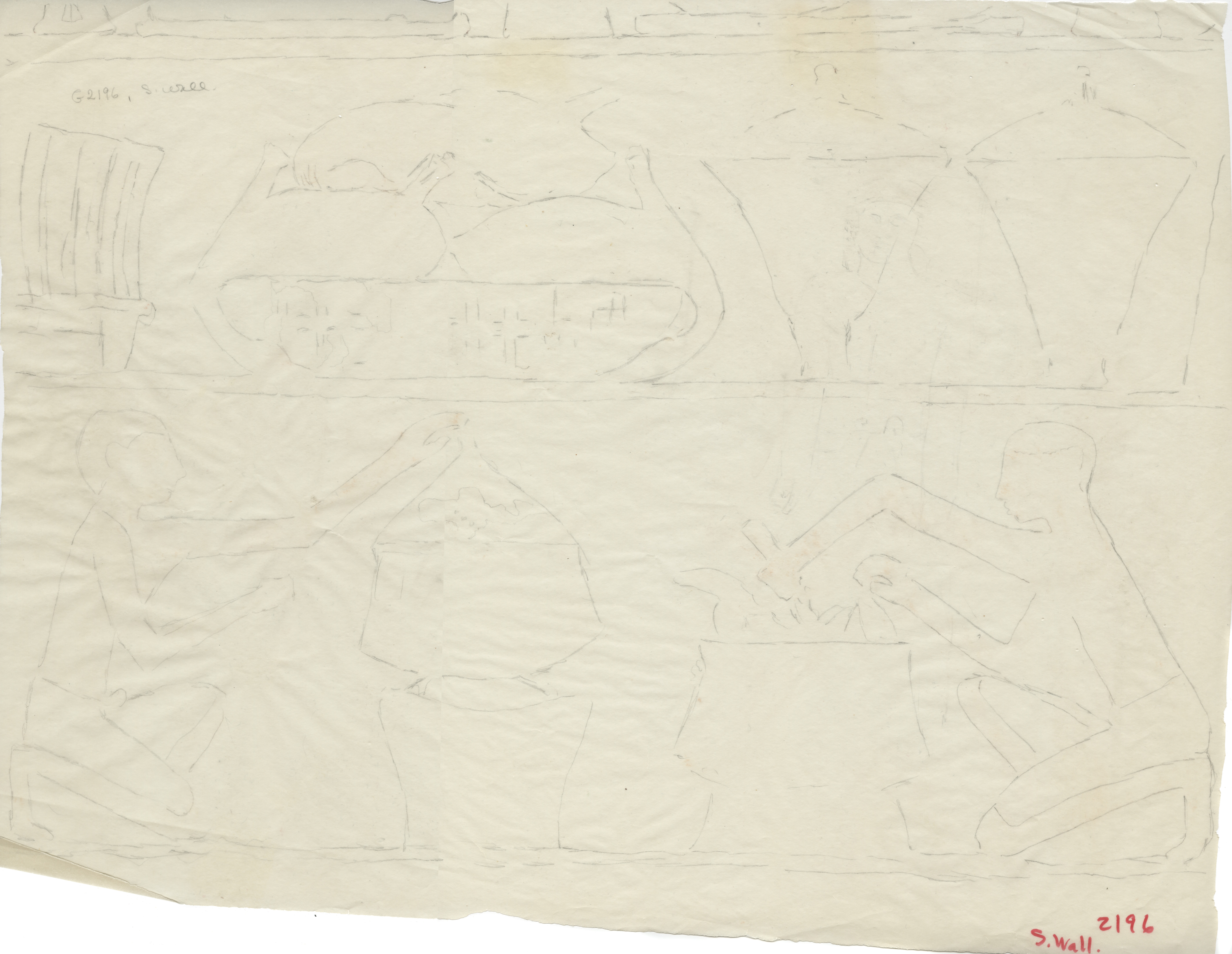 Drawings: G 2196: relief from S wall