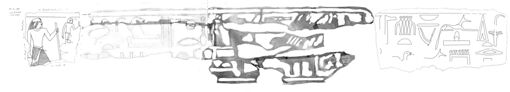 Drawings: G 7430-7440: relief from architrave