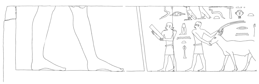 Drawings: G 5110: relief from E wall, S of door, N part