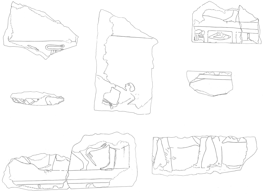 Drawings: G 5110 (= Lepsius 44): relief fragments