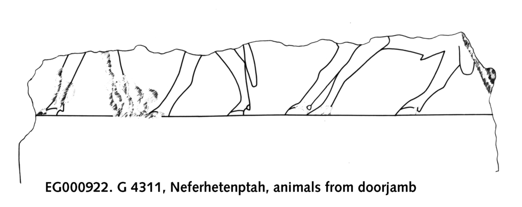 Drawings: G 4311: relief from jamb, animals