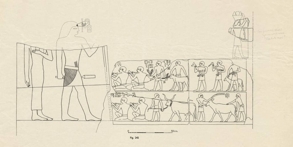 Drawings: G 2110: relief from E wall, restoration