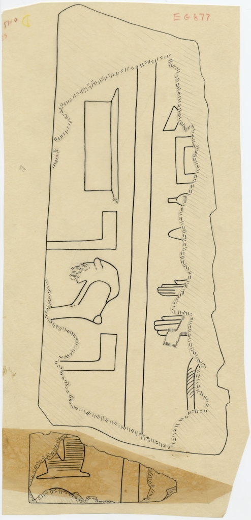 Drawings: G 5110: relief fragments from E wall