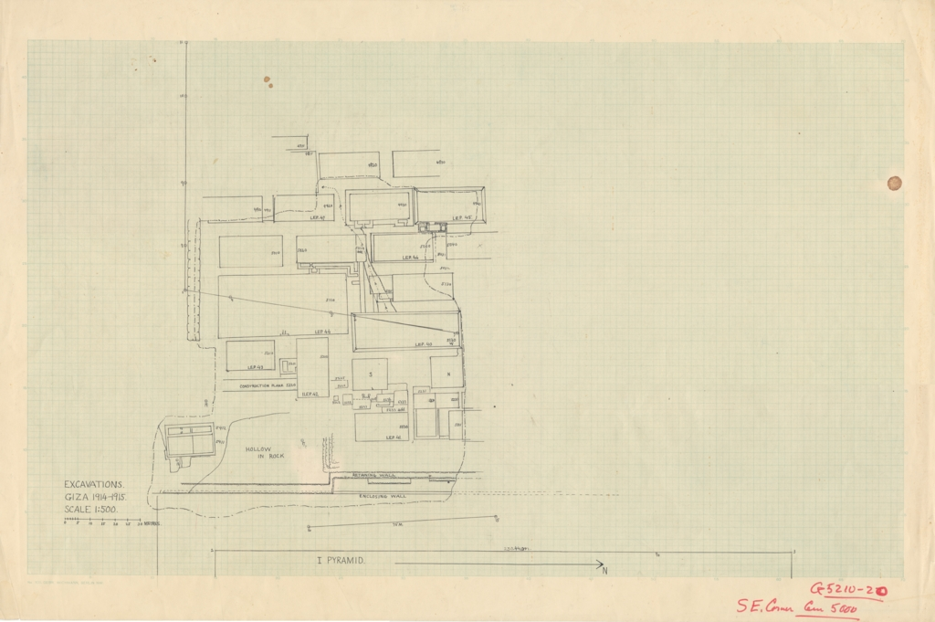 Maps and plans: Plan of Cemetery G 5000, SE Corner
