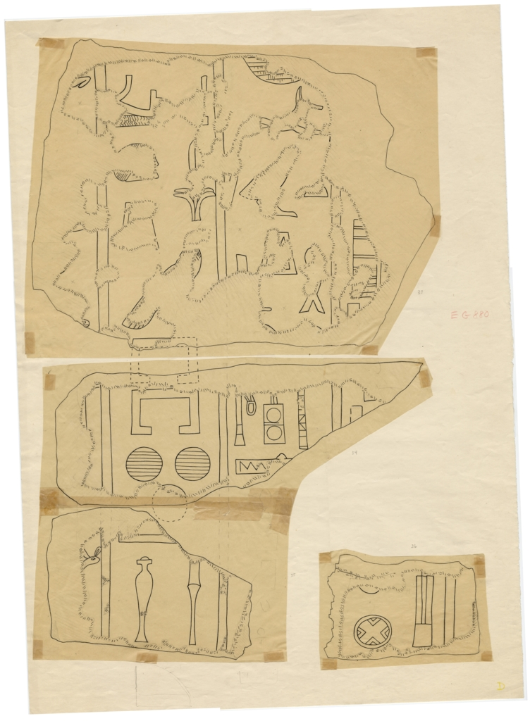 Drawings: G 5110: relief fragments