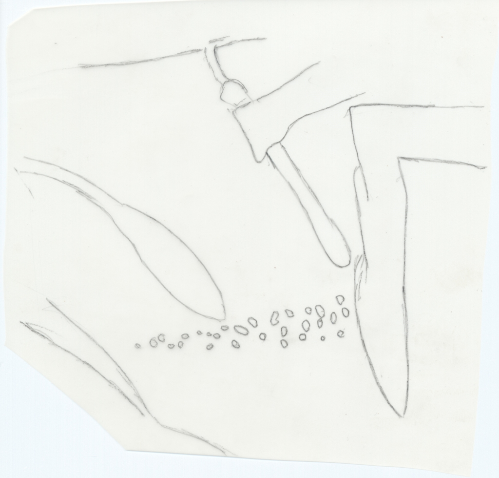 Drawings: G 6020: relief fragment from Room B