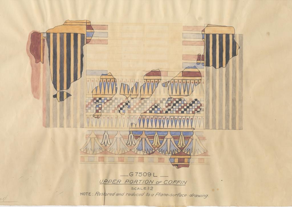 Drawings: 7509, Shaft L: coffin (watercolor)