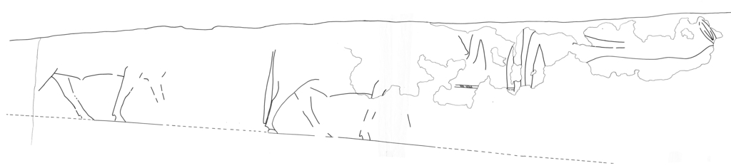 Drawings: G 2130: relief from E wall, N part