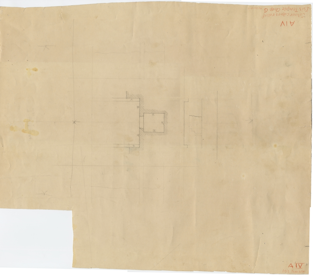 Maps and plans: Isis Temple, plan of Room G
