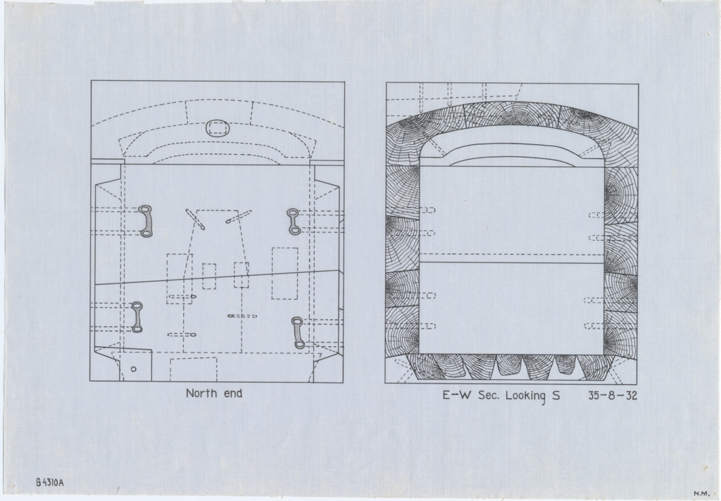 Drawings: G 4310, Shaft A: coffin and lid, wood