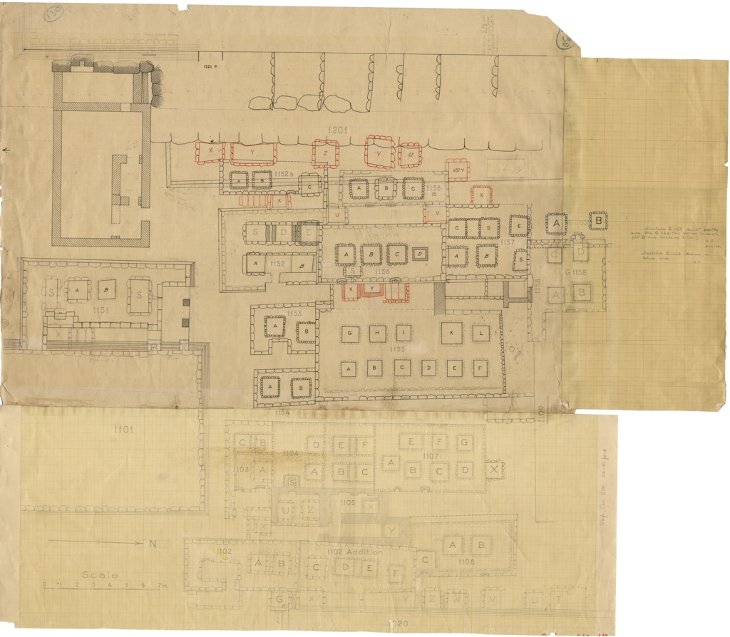 Maps and plans: Plan of Cemetery G 1100