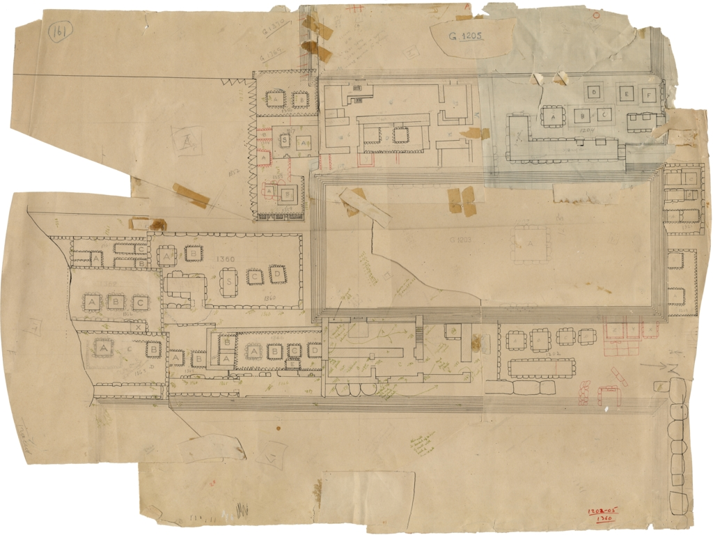 Maps and plans: Plan of Cemetery G 1200