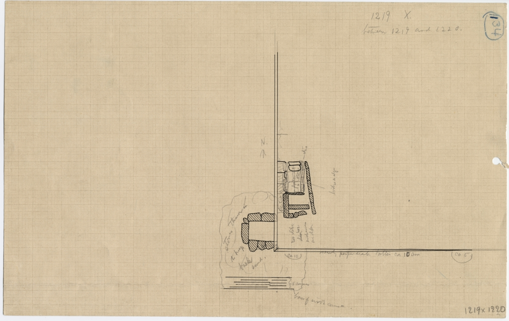 Maps and plans: G 1219 X, Plan, with location of G 1220