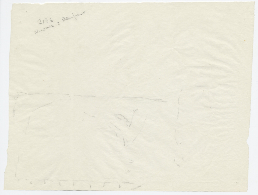 Drawings: G 2196: relief (palimpsest) from N wall