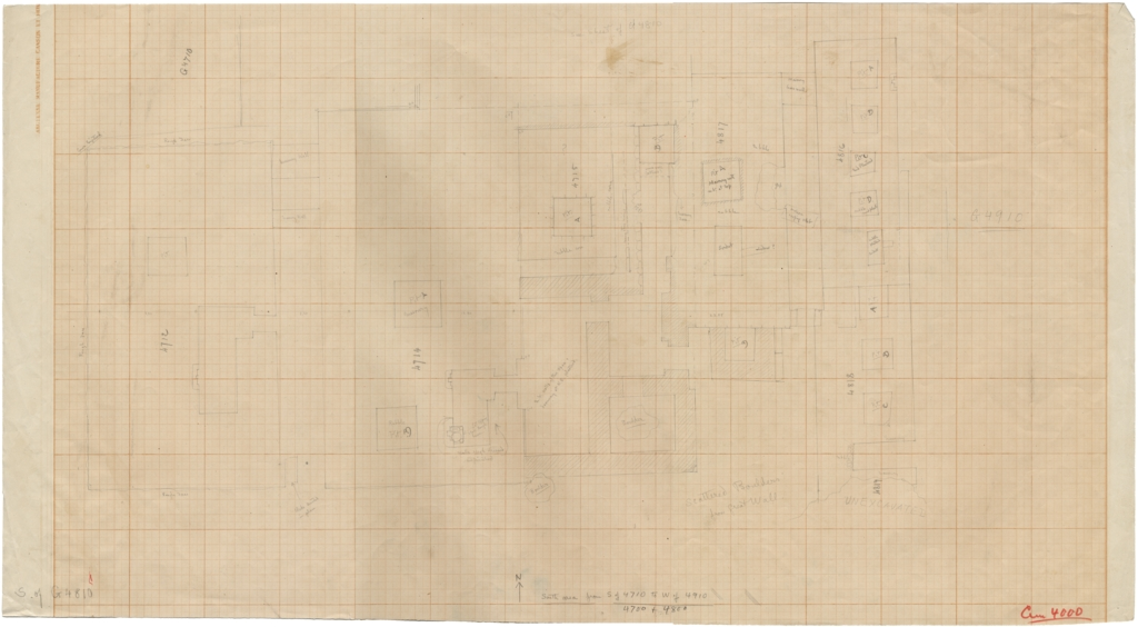 Maps and plans: Plan of Cemetery G 4000, S of G 4710