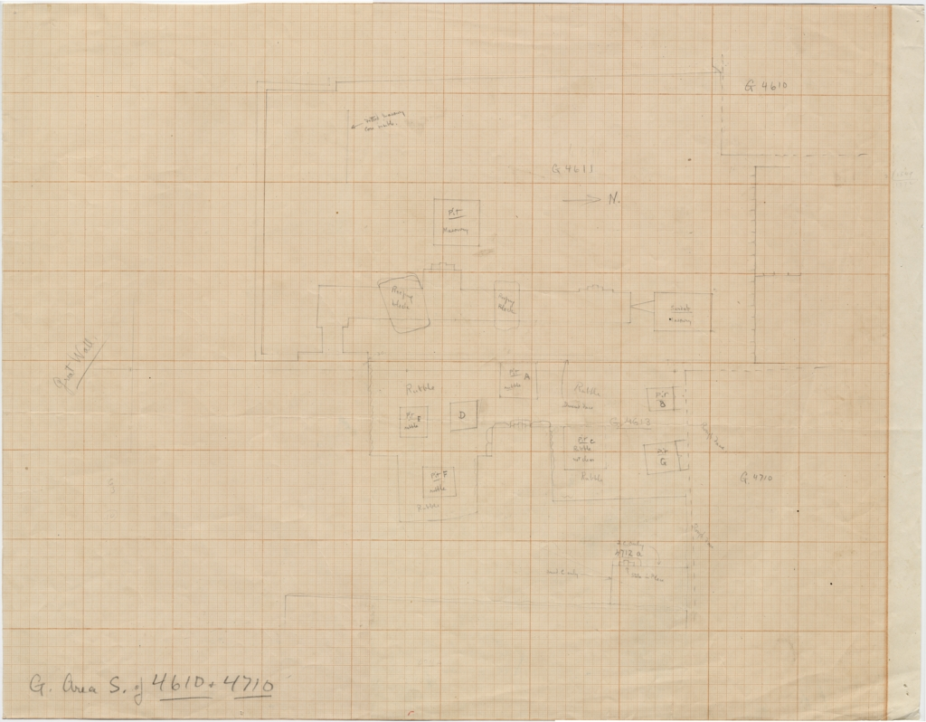 Maps and plans: Plan of Cemetery G 4000, area S of G 4610 and G 4710
