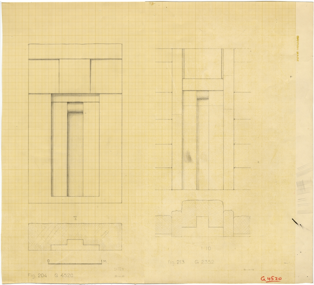 Drawings: False doors from G 4520 and G 2352, elevations