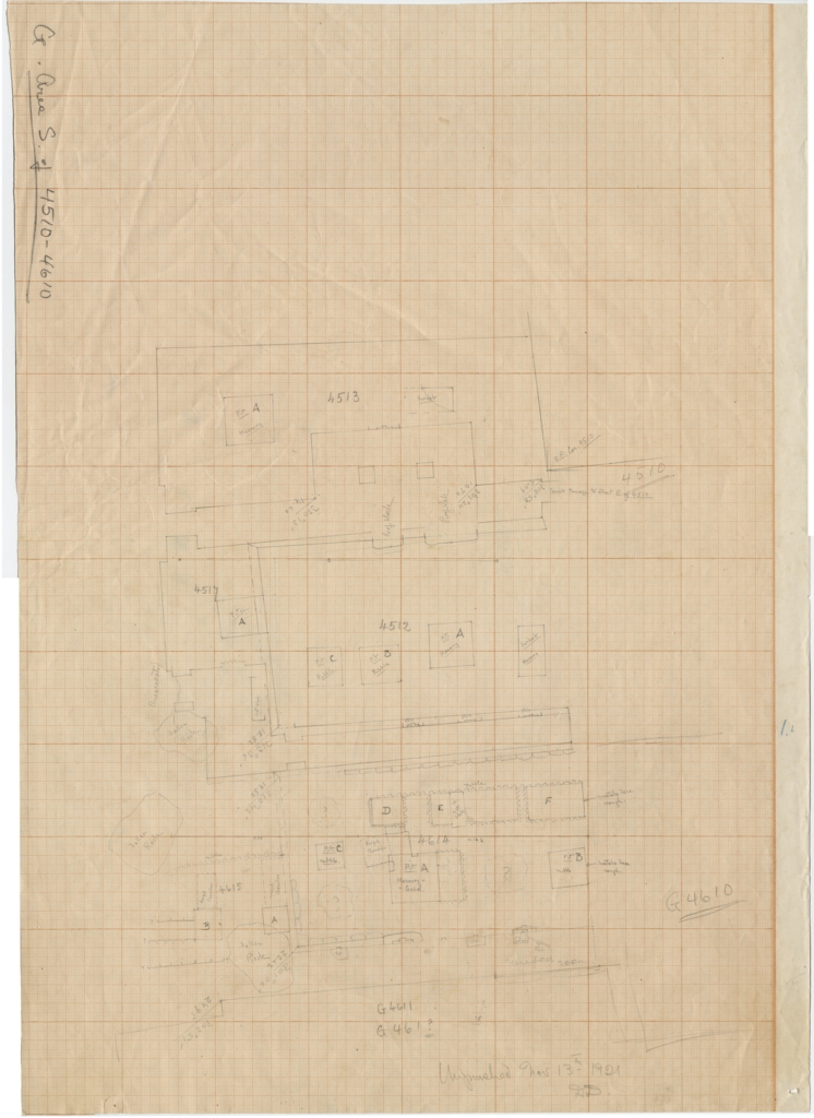 Maps and plans: Plan of Cemetery G 4000, area S of G 4510 - G 4610