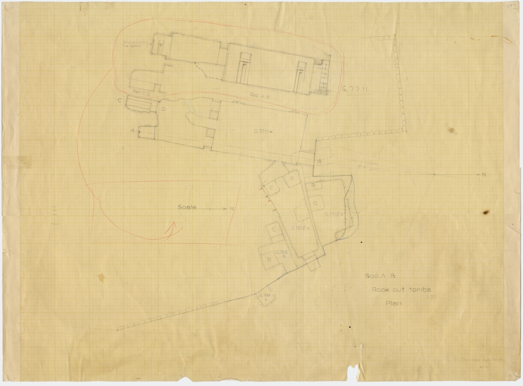 Maps and plans: Plan of G 7711, G 7811, G 7812a, G 7812b