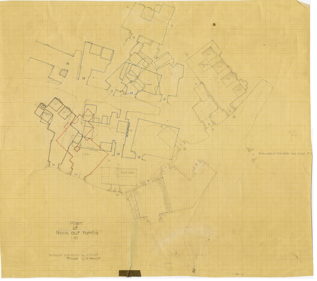 Maps and plans: Plan of Service tombs 2-19