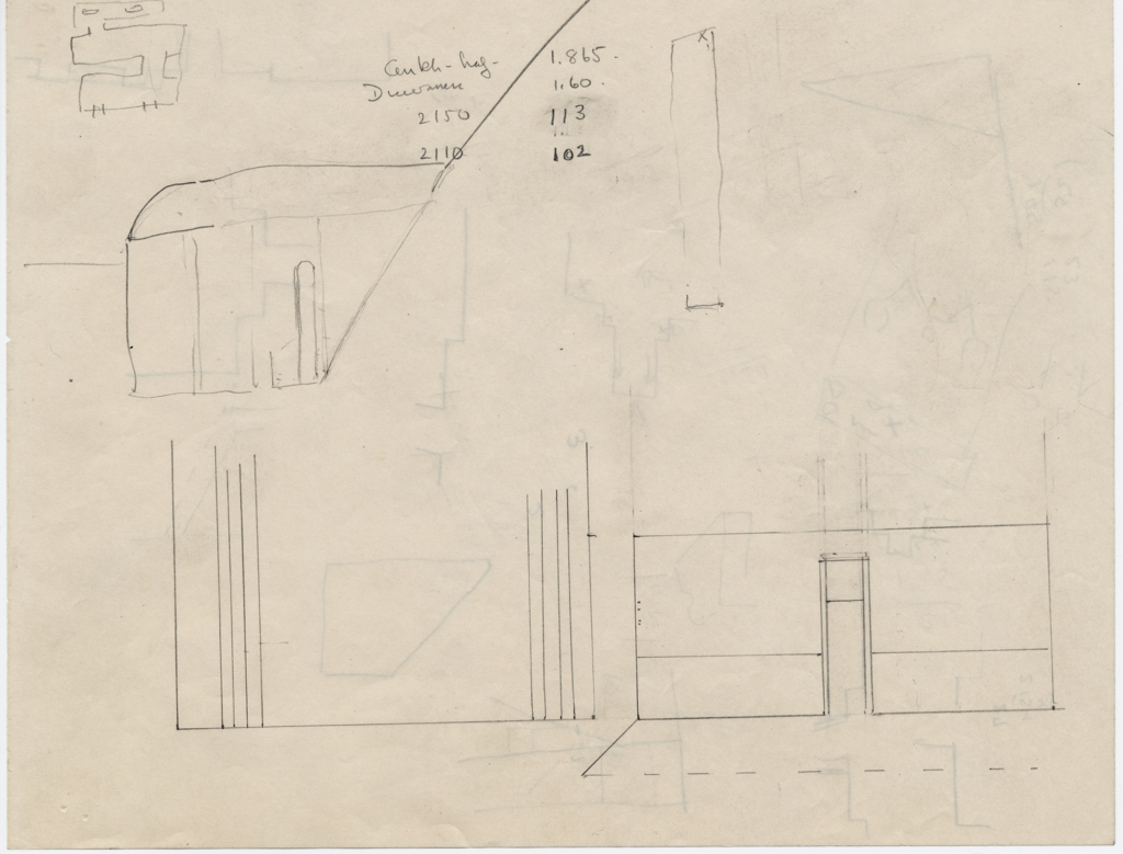 Maps and plans: Provenance unknown, Sketch plan and elevations of unidentified tombs