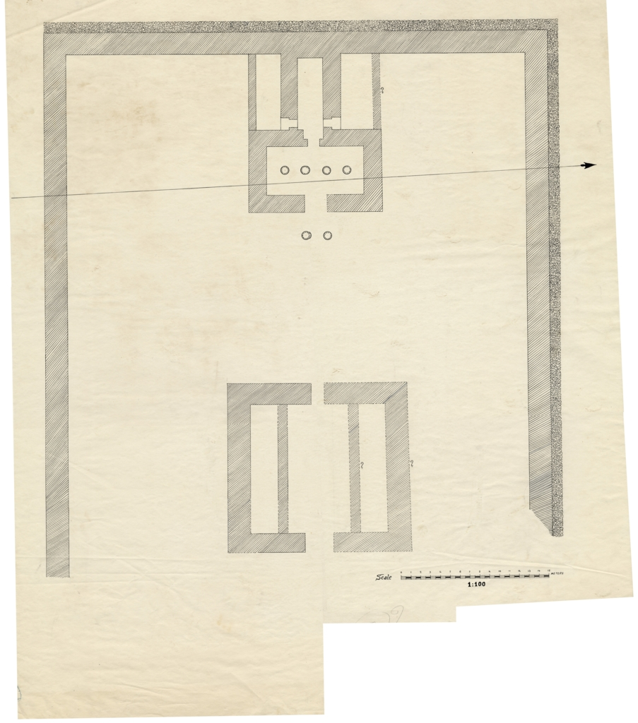 Maps and plans: Menkaure Valley Temple: Plan of second crude brick temple, Dynasty VI