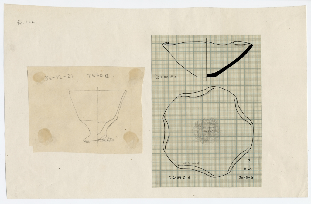 Drawings: Pottery from G 2409 G and G 7560 B