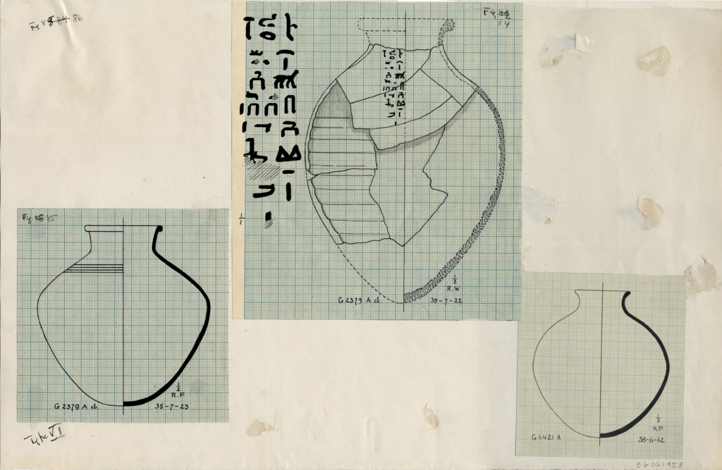 Drawings: Pottery from  G 2370, G 2379, G 4421