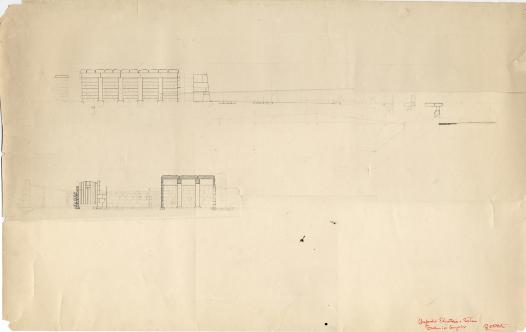 Maps and plans: G 2370, Elevations and sections, unfinished