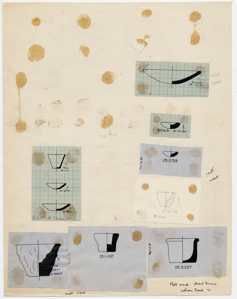Drawings: Drawing of objects from G 1226, G 2100, G 2385, G 6040, G 7431, G 7510, G 7610+7620, G 7650