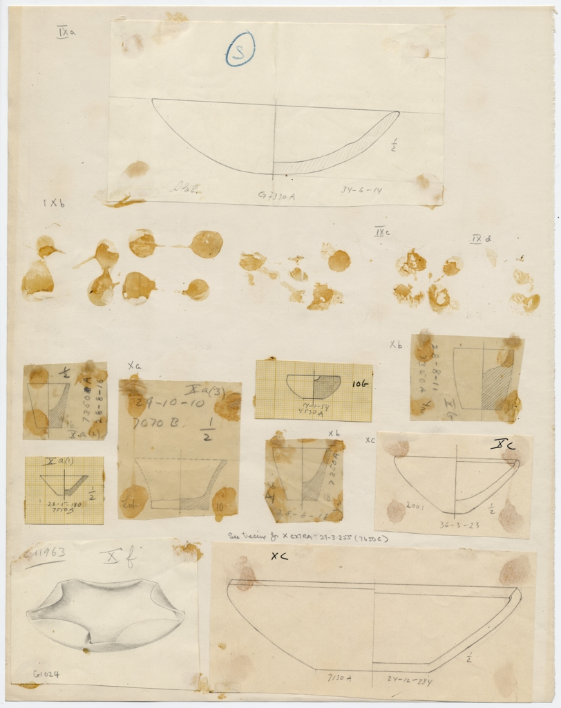 Drawings: Objects from G 1024, G 2001, G 4530, G 7070, G 7130-7140, G 7330-7340, G 7350, G 7550