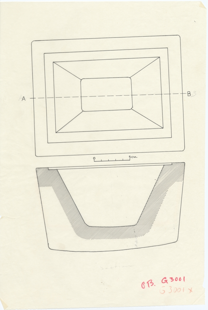 Drawings: G 3001, Shaft X: offering basin