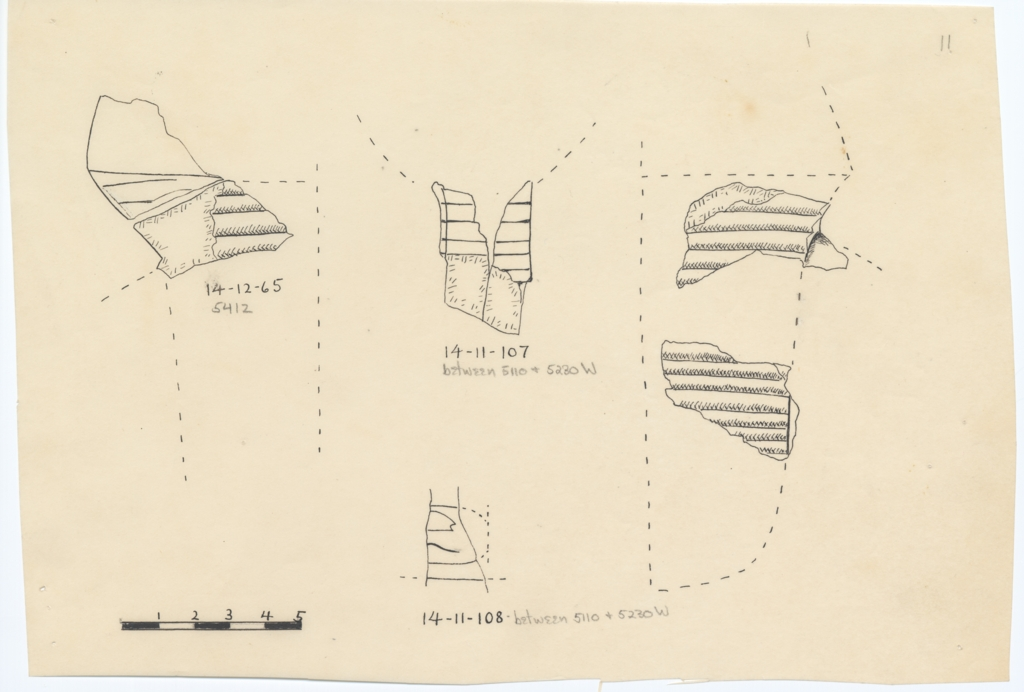 Drawings: Royal statue fragments from G 5110, G 5230, G 5412