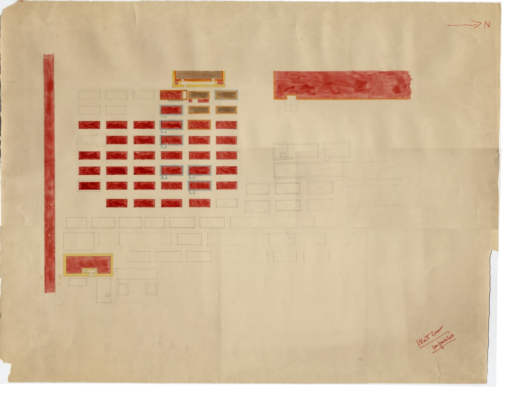 Maps and plans: Plan of Western Cemetery, unfinished