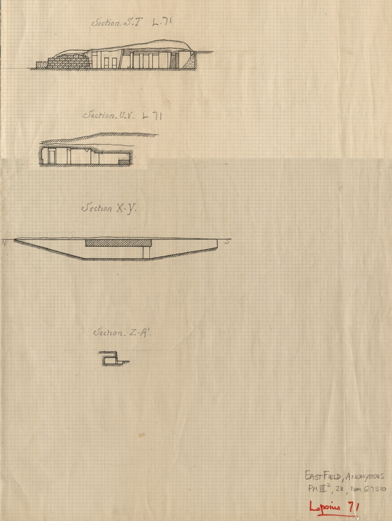 Maps and plans: Lepsius 71, Sections