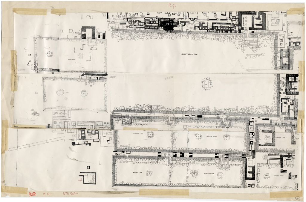 Maps and plans: Plan of Cemetery G 7000, NE Section