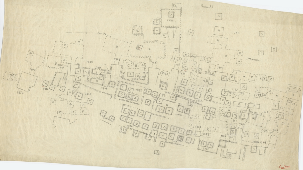 Maps and plans: Partial plan of Cemetery G 7000