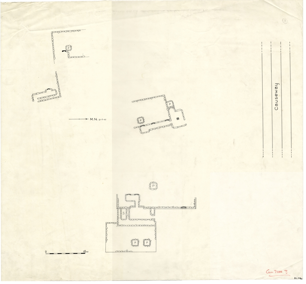 Maps and plans: Partial plan of Cemetery G 7000 (?)