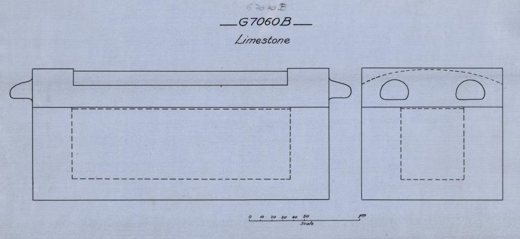 Drawings: G 7070, Shaft B: coffin, limestone