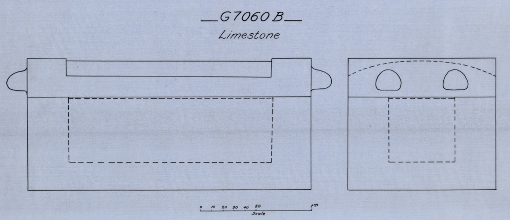 Drawings: G 7060, Shaft B: coffin, limestone
