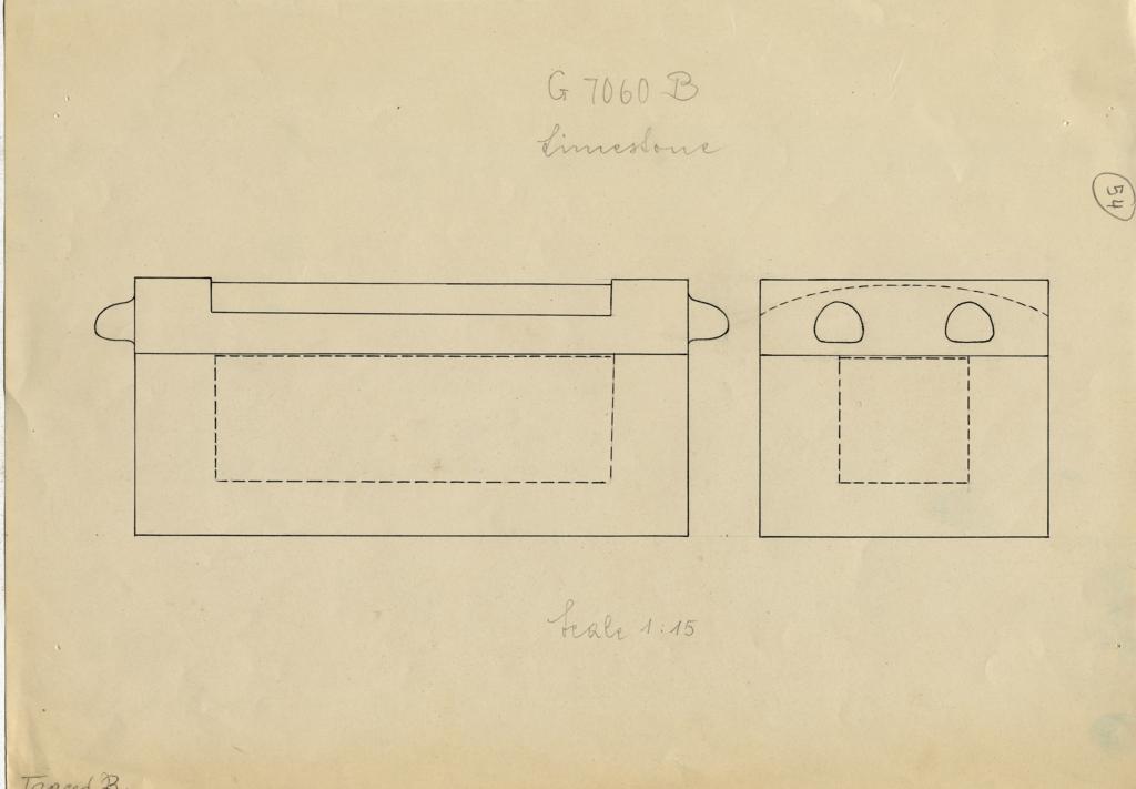 Drawings: G 7060, Shaft B: coffin, limestone