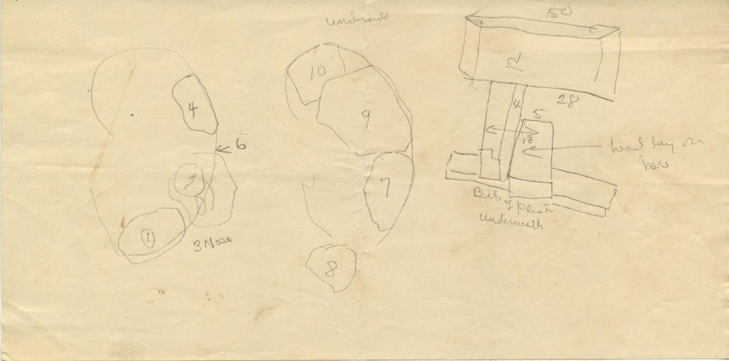 Maps and plans: G 2037b, Shaft X, sketches