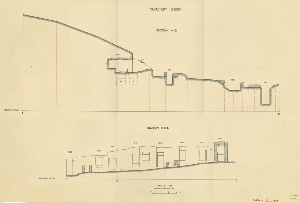 Maps and plans: Sections of Cemetery G 1600