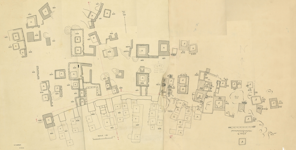 Maps and plans: Plan of Cemetery G 1600