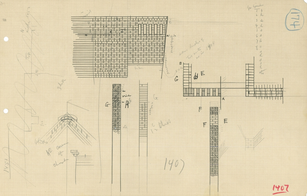 Maps and plans: G 1407, Drawings